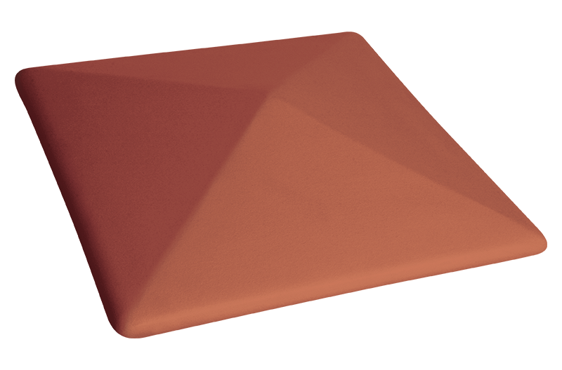 Клинкерна шапка за ограда Ruby red (01)
