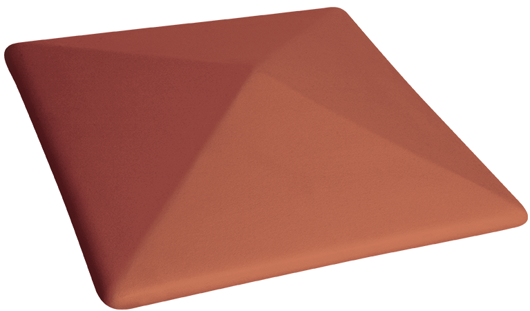 Шапки за огради Ruby red 01