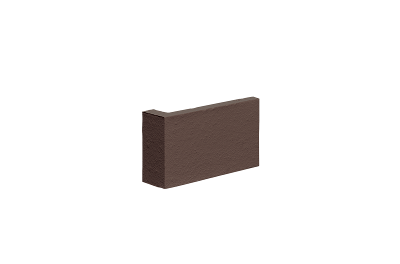 Клинкерна ъглова плочка Natural brown (03)