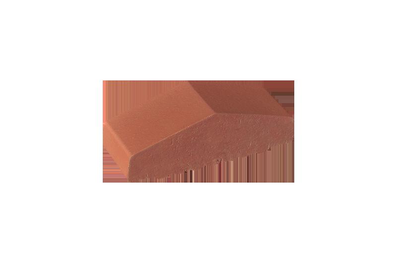Плътен клинкерен профил за ограда Ruby red (01)