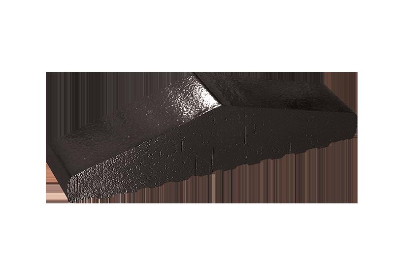 Плътен клинкерен профил за ограда Onyx black (17)