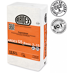 ARDEX G5 BASIC фуги 2 - 15 mm
